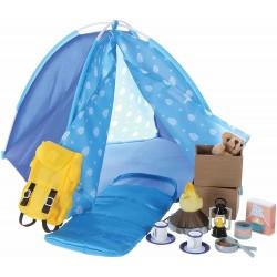 Puppen Camping-Set mit Zelt und viel Zubehör