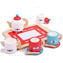 Kinder - Kaffeeservice Set mit Tablett