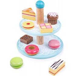 Kuchenstand mit 9 Kuchen