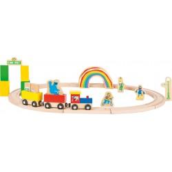 Holzeisenbahn - SESAMSTRASSE