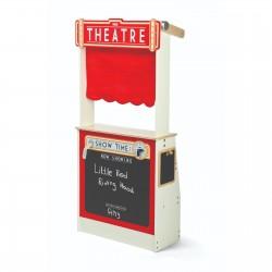 Puppentheater und Kaufladen aus Holz