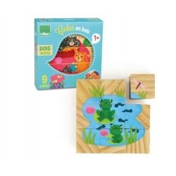 Würfel Puzzle aus Holz - Vilac