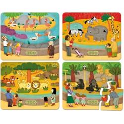 Holzpuzzle - Zootiere von Vilac