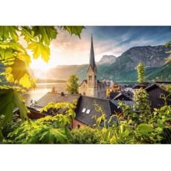 Puzzle 1000 Teile - Postkarte aus Hallstatt