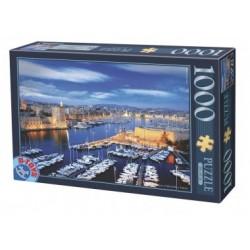 Puzzle 1000 Teile - Hafen von Marseille