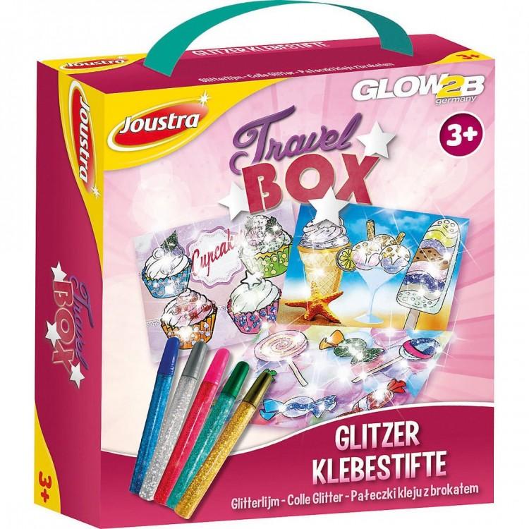 Joustra Travel Box Glitzer-Klebestifte