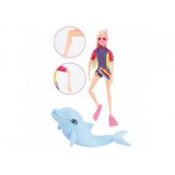 Puppe - LAUREN Taucher mit Glitzer Delphin