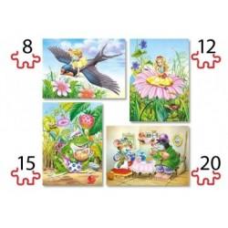 Puzzle, Maxi-Teile, 4er-Set, Däumelinchen
