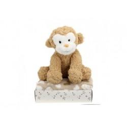 Geburts-Geschenkbox -Plüsch-Affe + Decke