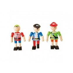 Holzfiguren - Spielfiguren - Piraten 3 St.