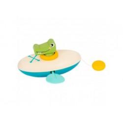 Wasserspielzeug - Aufzieh-Kanu Krokodil