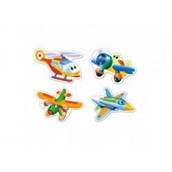 Puzzle für Kinder - Lustige Flugzeuge