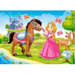 Puzzle, 60 Teile, Prinzessin und ihr Freund