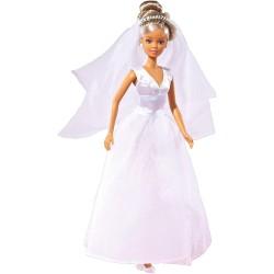 Puppe im Hochzeitskleid - Steffi
