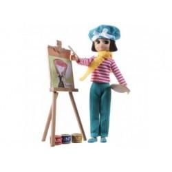 Puppe - Lottie - Malerin mit Staffelei