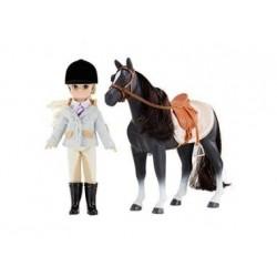 Puppe - Lottie - Reiterin mit Pferd