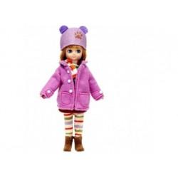 Puppe - Lottie Spaziergang im Herbst mit Mütze