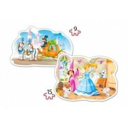 Konturpuzzle, Cinderella, 2er-Set