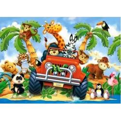 Puzzle, 40 Maxi-Teile, Safari