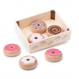 Donuts aus Holz für die Spielküche
