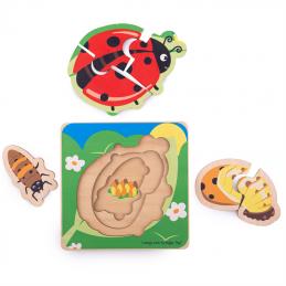 Schichtenpuzzle Marienkäfer Bigjigs Toys