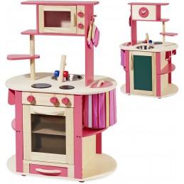 Spielküche aus Holz - Kinderküche rundum bespielbar