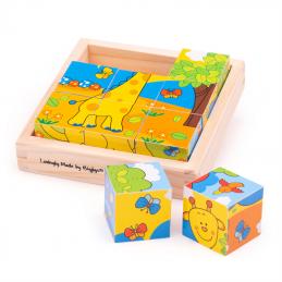 Würfelpuzzle Safari