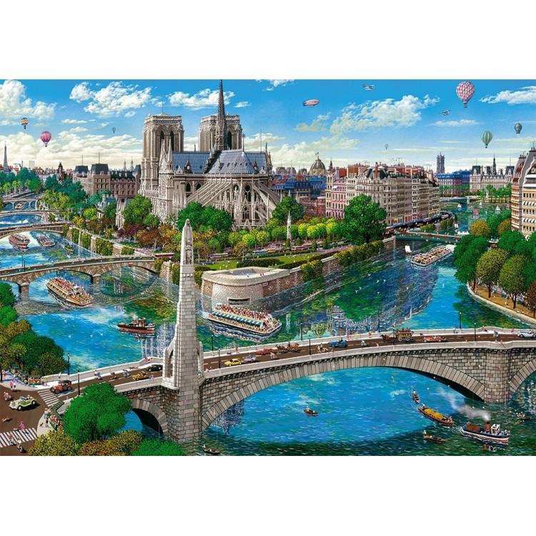 Puzzle 500 Teile - Paris, Notre Dame