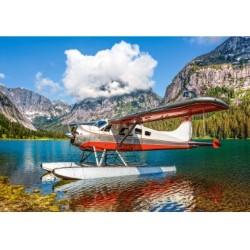 Puzzle 500 Teile - Floatplane on Mountain Lake