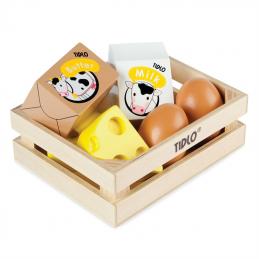 Holzeier und Milchprodukte - Spielküche Zubehör