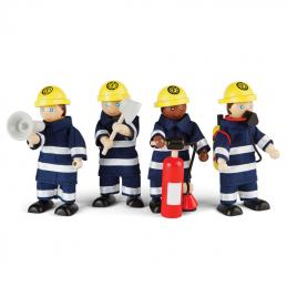 Biegepuppen Feuerwehrmänner Set