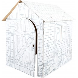 Spielhaus aus Bastelkarton