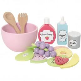 Kinderküche Zubehör - Fruchtsalat aus Holz