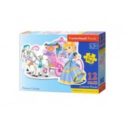 Konturpuzzle 12 Maxi-Teile, Princess Carriage