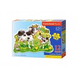 Puzzle, 12 Maxi-Teile, Kühe auf der Wiese