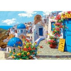 Puzzle 2000 Teile, Frühling in Santorin - Griechenland