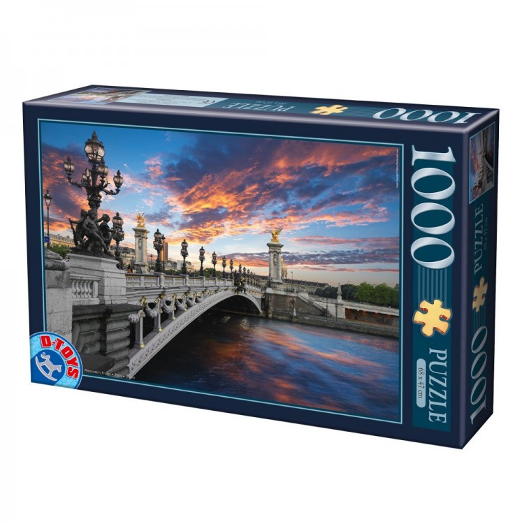 Puzzle 1000 Teile - Pont Alexandre III, Paris, Frankreich