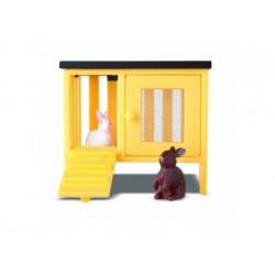 Lundby: 2 Kaninchen mit Stall