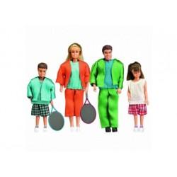 Puppenhaus Zubehör - Familie in Sportkleidung