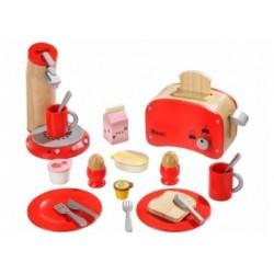 Spielküche Zubehör Frühstücksset aus Holz