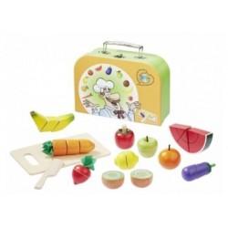 Schneideset Obst und Gemüse im Koffer