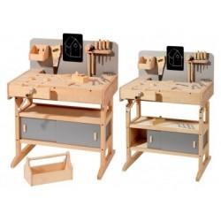 Kinderwerkbank aus Holz mit Werkzeug - Howa