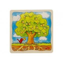 Schichtenpuzzle Der Baum