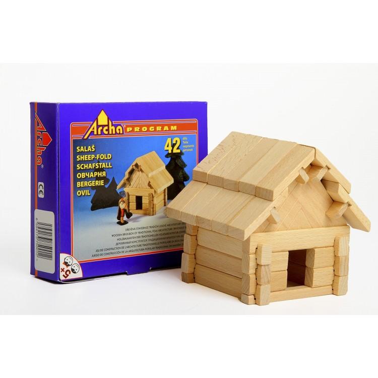 Holzbaukasten - Startset Schafstall