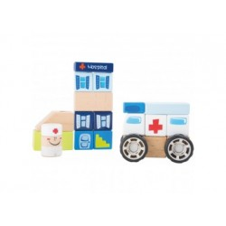 Holzbausatz Krankenwagen