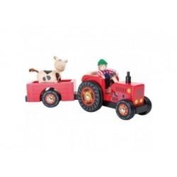 Holztraktor mit Anhänger Bauernhof
