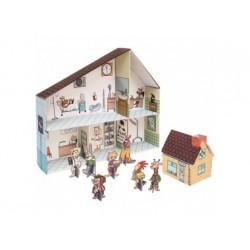 Puppenhaus Tierklinik aus Pappe