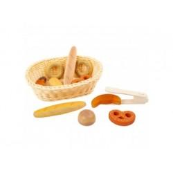 Brotkorb aus Holz - Kaufladen Zubehör